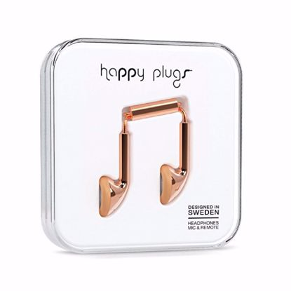 Picture of Trade Happy Plugs Deluxe Earbud Wired Earphones in Rose Gold