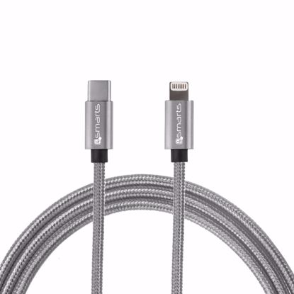 Picture of 4smarts 4smarts 1m Fast Charge iPD USB Type-C to Apple Lightning Cable in Grey