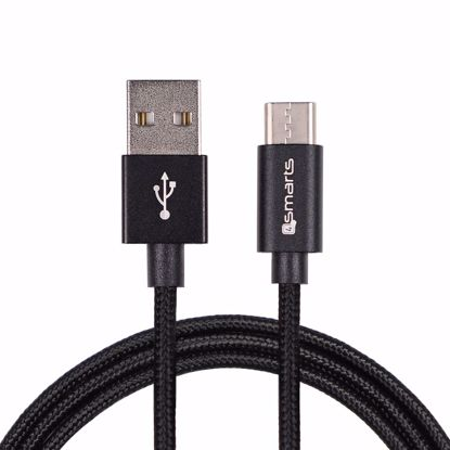 Picture of 4smarts 4smarts RAPIDCord 1m USB Type-C Cable in Black