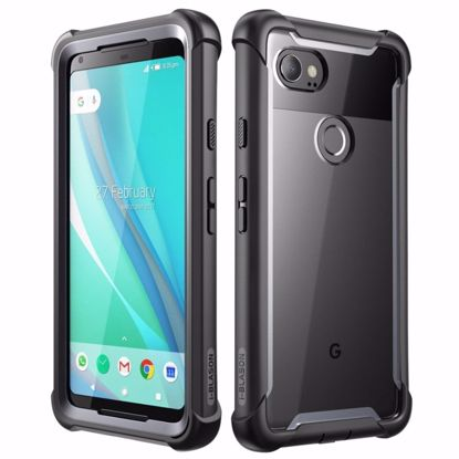 Picture of i-Blason i-Blason Ares Clear Case with Screen Protector for Google Pixel 2XL in Black