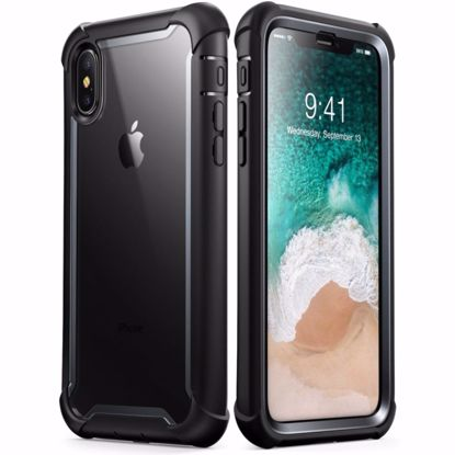 Picture of i-Blason i-Blason Ares Clear Case with Screen Protector for Apple iPhone XS Max in Black