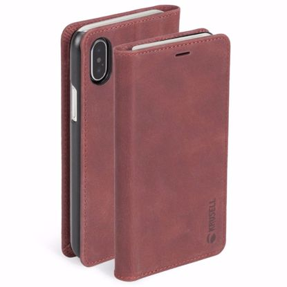 Picture of Krusell Krusell Sunne 4 Card Folio Case for Apple iPhone XS/X Max in Red