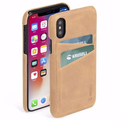 Picture of Krusell Krusell Sunne 2 Card Cover Case for Apple iPhone XS/X Max in Nude