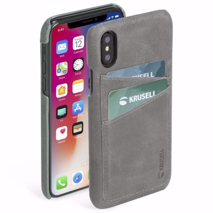 Picture of Krusell Krusell Sunne 2 Card Cover Case for Apple iPhone XS/X Max in Grey