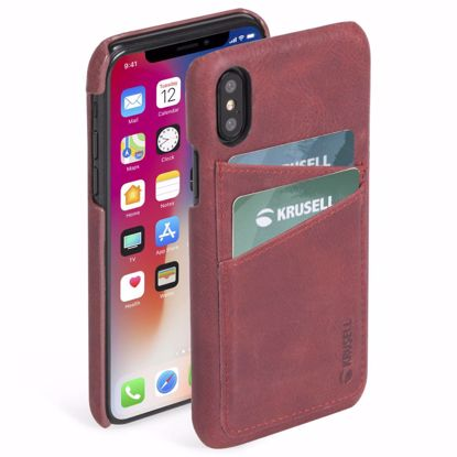 Picture of Krusell Krusell Sunne 2 Card Cover Case for Apple iPhone XS/X Max in Red
