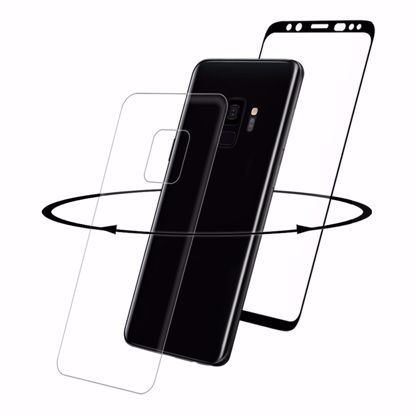 Picture of Eiger Eiger 3D 360 GLASS Tempered Glass Screen Protector for Samsung Galaxy S9 in Clear/Black
