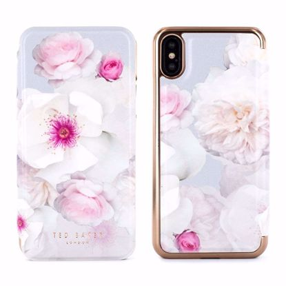 Picture of Ted Baker Ted Baker MALIBAI Mirror Folio Case for Apple iPhone XS/X in Chelsea Grey