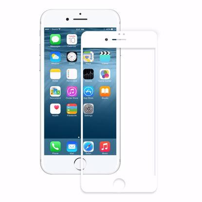 Picture of Eiger Eiger 3D GLASS Full Screen Tempered Glass Screen Protector for Apple iPhone 8/7 in Clear/White