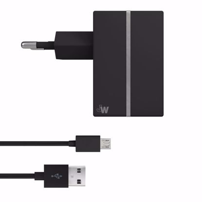 Picture of Just Wireless Just Wireless 2.4A EU Mains Charger with Micro USB Connector in Black