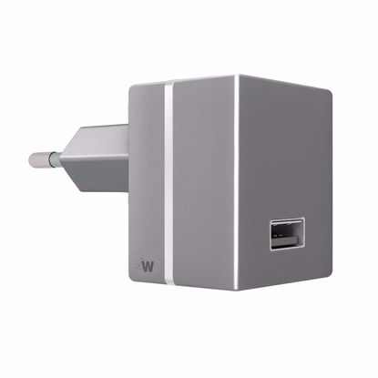 Picture of Just Wireless Just Wireless 2.4A EU Mains Charger (No Cable) in Grey