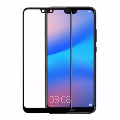 Picture of Gear GEAR 3D Edge to Edge Tempered Glass Screen Protector for Huawei P20 Lite in Clear/Black