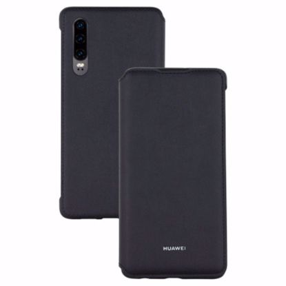 Picture of Huawei Huawei Wallet Folio Cover Case for Huawei P30 in Black