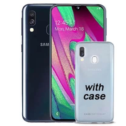 Picture of Samsung Galaxy A40 Enterprise Black with Case