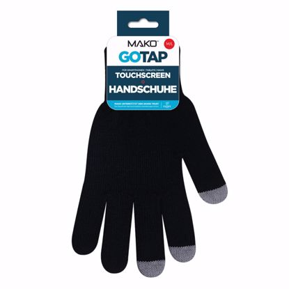 Picture of Mako MAKO GOTAP Touchscreen Gloves in M/L in Black