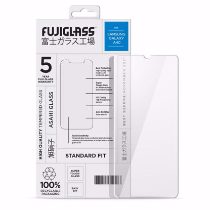 Picture of Fuji Fuji Standard Fit Screen Protector for Samsung Galaxy A40 in Clear/Black