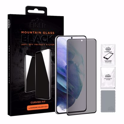 Picture of Eiger Eiger Mountain BLACK Curved Anti Spy Privacy Glass Screen Protector for Samsung Galaxy S21+