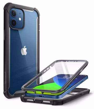 Picture of i-Blason i-Blason Ares Full Body Case with Screen Protector for iPhone 12 Mini in Black
